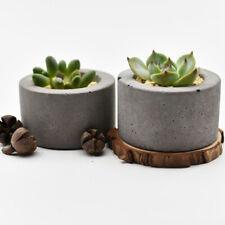 Nicole Concrete Planter Silicone Mold Round Vase Plaster Cement Flower Pot Mould