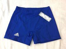 "Adidas Techfit Team Women's 4"" Shorts Tights Blue Sz M Fit Athletic Sport"
