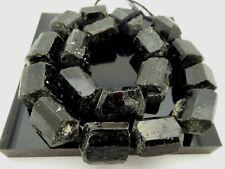 "Natural Large Black Tourmaline Rough Freeform Nuggets Gemstone Beads Std 16.5"""