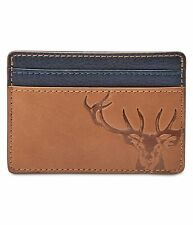 Fossil Mens Andy Coin Card Case Wallet, Brown, One Size