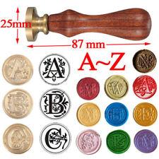 Retro Sealing Wax Stamp Alphabet Invitation Envelope Wax Carved Head Wood Handle