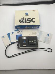 VINTAGE Minolta Disc-K Camera in original box with manuals