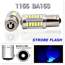 Strobe Front Signal 1156 BA15S 33SMD 180° LED Projector Lens Blue Bulb K1 HAK