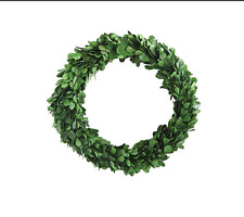 "10"" Preserved Natural Garden Boxwood Wreath for Home Decoration"