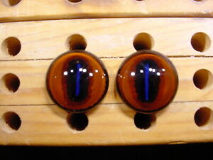 a pair vintage solid doll glass eyes 28 mm for bisque doll doctor age1910 A 3133