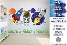 Adesivo parete tema dello spazio's Per Bambini Camera Da Letto Murale Parete Decalcomania.