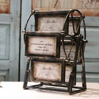 Large Windmill Wheel 5 inches Picture Frame Vintage Photo Frame Craft Ferris