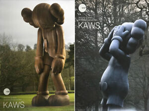 KAWS Official Show Posters x 2 unsigned NEW print Small Lie 5YL Sculpture Gone