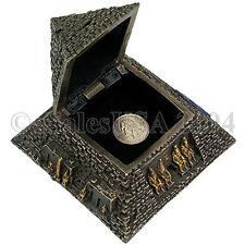 Egyptian Pyramid Jewelry Trinket Box Ancient Egypt Tomb Osiris Eye Isis Dashur