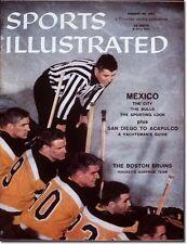 Jan. 28, 1957 Jack Bionda Boston Bruins SPORTS ILLUSTRATED NO LABEL Newsstand A