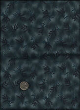 """""""Garden Patch"""" Print drk blueish teal Fabric by Joined At The Hip for Clothworks"""