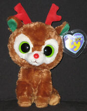 """TY BEANIE BOOS - COMET the 6"""" REINDEER - MINT with MINT TAGS"""
