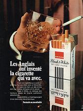 PUBLICITE ADVERTISING  1975   BLACK & WHITE  cigarettes