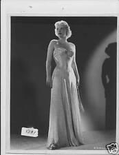 Jean Wallace busty VINTAGE Photo linenbacked