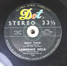 Pop Compact 33 Rpm 45 Lawrence Welk - Night Theme / Misty On Dot Records, Inc.