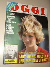 OGGI=1987/16=LADY DIANA=GINO PAOLI=ETTORE CITTADINI=ALESSANDRA MUSSOLINI=CARRA '