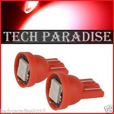 2x Ampoule T10 / W5W / W3W LED 2 SMD 5630 Rouge Red veilleuse lampe light