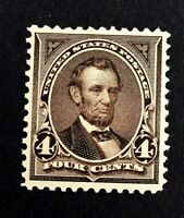 US Stamps, Scott #269 1895 4c Lincoln 2017 PSAG Certification GC VF/XF 85 M/NH