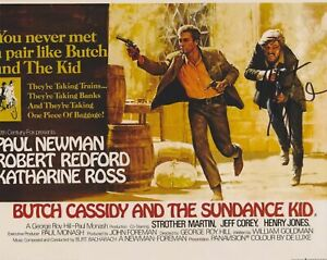 Superb Robert Redford Signed Color Photograph Of 1969 'Butch Cassidy' Lobby Card