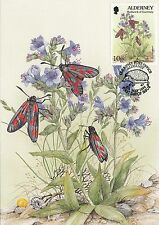 (98387) GB Alderney Maxicard Butterflies Postcard 5 May 1994