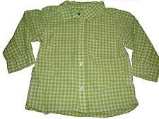H & M tolles Hemd Gr. 86 grün-weiß kariert !!