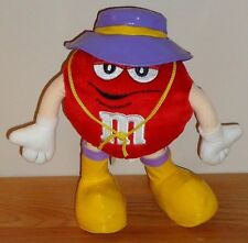 "Red M&M Candy Character 8.5"" plush w/purple rain hat & Yellow boots by Gallerie"