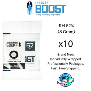 10-Pack Integra Boost 62% 8 Gram  | 2-Way Humidity Pack | + Free Shipping!