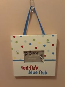 Trend Lab Dr Seuss Picture Frame Red Fish Blue Fish Kids Room   (#1)