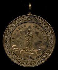 old medal antica medaglia  Anhänger MARIA IMMACOLATA/RICORDO S.CRESIMA 1854