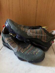 Nike Air Vapormax 2020 Flyknit Size 11.5 CW1765-001 'Newsprint' Green Shoes