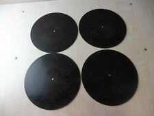 Lot de 4 grands disques pour Gramophone, The Gramophone Company, ange Trademark