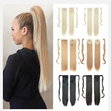 """Long Clip in Ponytail Hair Extensions Extention Natural Straight Hair 22"""""""