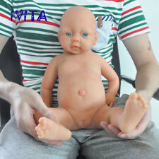 IVITA 20'' Silicone Reborn Baby Gril Big Blue Eyes Reborn Doll Xmas Gift