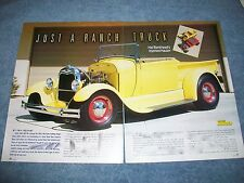"1929 Ford Roadster Pickup Hot Rod Article ""Just A Ranch Truck"""