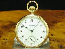 Tiffany & Co.18kt 750 Gold Open Face Pocket Watch From Approx. 1894/Caliber 17