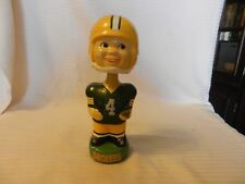 Smiling Face Green Bay Packers Bobble Head Figurine Cast Painted Plaster