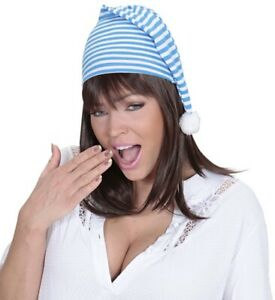 Blue Unisex Adult Baby Night Cap Wee Willie Winkie Scrooge Book Day Fancy Dress
