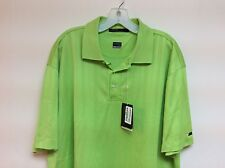 READ Nike Tiger Woods Collection Golf Polo Shirt Nike Dri-Fit Neon Green Size XL