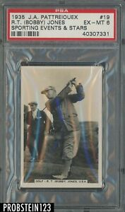 1935 J.A. Pattreiouex Sporting Events & Stars Golf #19 R.T. Bobby Jones RC PSA 6