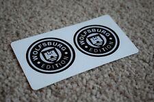 WolfsBurg Motor Oil Gas Petrol Retro Racing Garage Decal Stickers VW Round 50mm