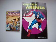 """STRANGE, Album N° 45 , Avec Poster détaché """" Captain America """" Marvel ,1981 ,TBE"""