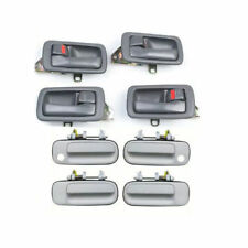 For 92-96 Toyota Camry 4 Gray Inside & 4 WHITE 040 DS396 Outside Door Handle Set