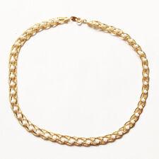 "VTG AVON Braided Gold-tone Chain w/ Faux Pearl Necklace Choker 19"""