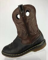 Dr. Martens Cowboy Ankle Boots Black Brown Leather Western Booties Womens Sz