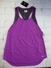 Nike Women's Crew Racerback Tank Top Puple Running Tennis Training Gym Shirt