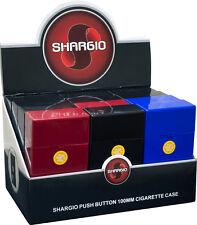 Shargio 100's Push-to-Open Plastic Cigarette Case - 12 pack