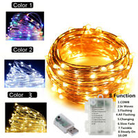 10m/33ft USB/ Battery LED String Fairy Lights Xmas Party Table Decoration Lamp