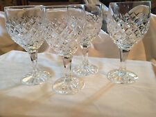 Four Heavy Crystal Glass Water Goblets Montalegre (Cut) by Atlantis