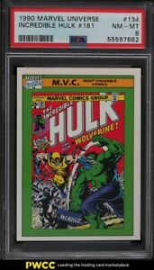 1990 Impel Marvel Universe Incredible Hulk #181 #134 PSA 8 NM-MT
