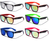 LOT OF 3 or 6 Men Women Flat Top Sport Color Mirror Sunglasses Party Favors Bulk